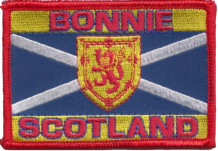 Scotland Bonnie Embroidered Badge (a511)